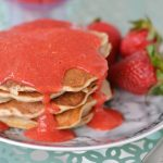 Whole Wheat Pancakes with Strawberry Sauce - recipe video