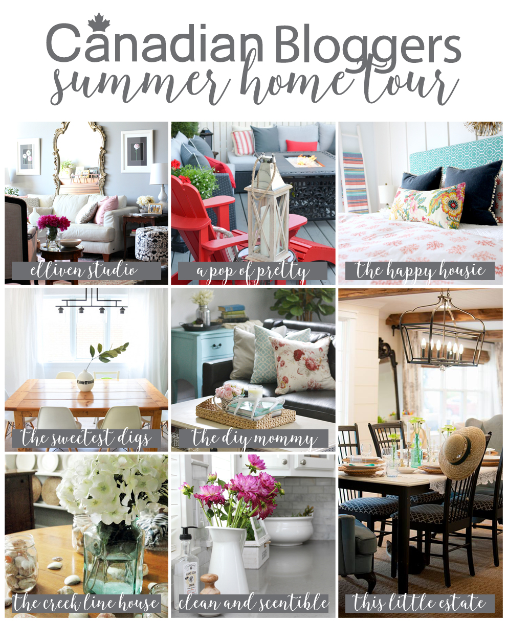 Canada Home Decor Ideas: Summer Decorating Ideas: Canadian Bloggers Home Tour