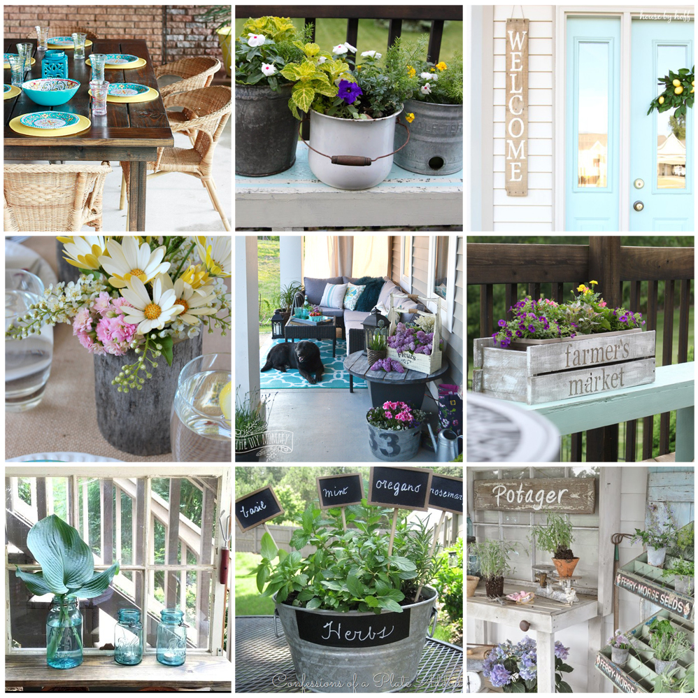 12 Gorgeous Country Farmhouse Outdoor Décor Ideas | The ... on Easy Diy Garden Decor id=59251