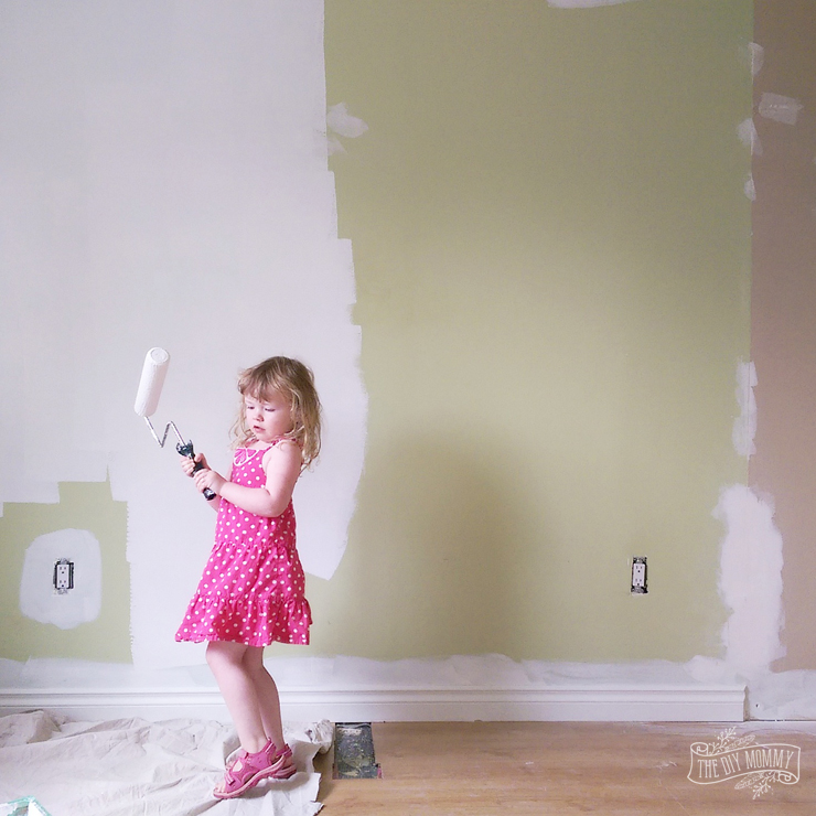 How to paint your home with kids underfoot
