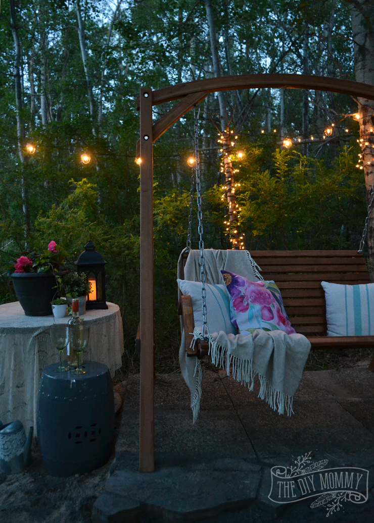 A Secret Garden Swing Retreat | The DIY Mommy
