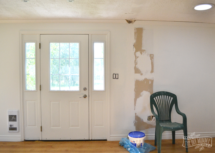 Painting a small home simply white