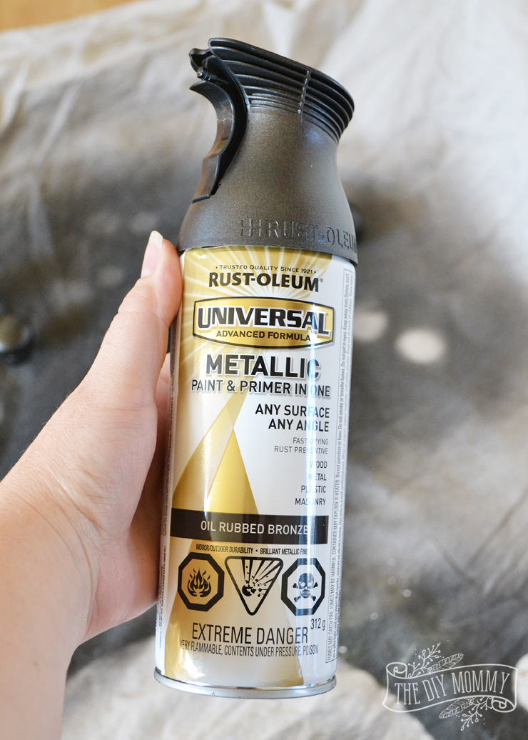 The BEST oil rubbed bronze spray paint. It looks so real and doesn't scratch or rub off!