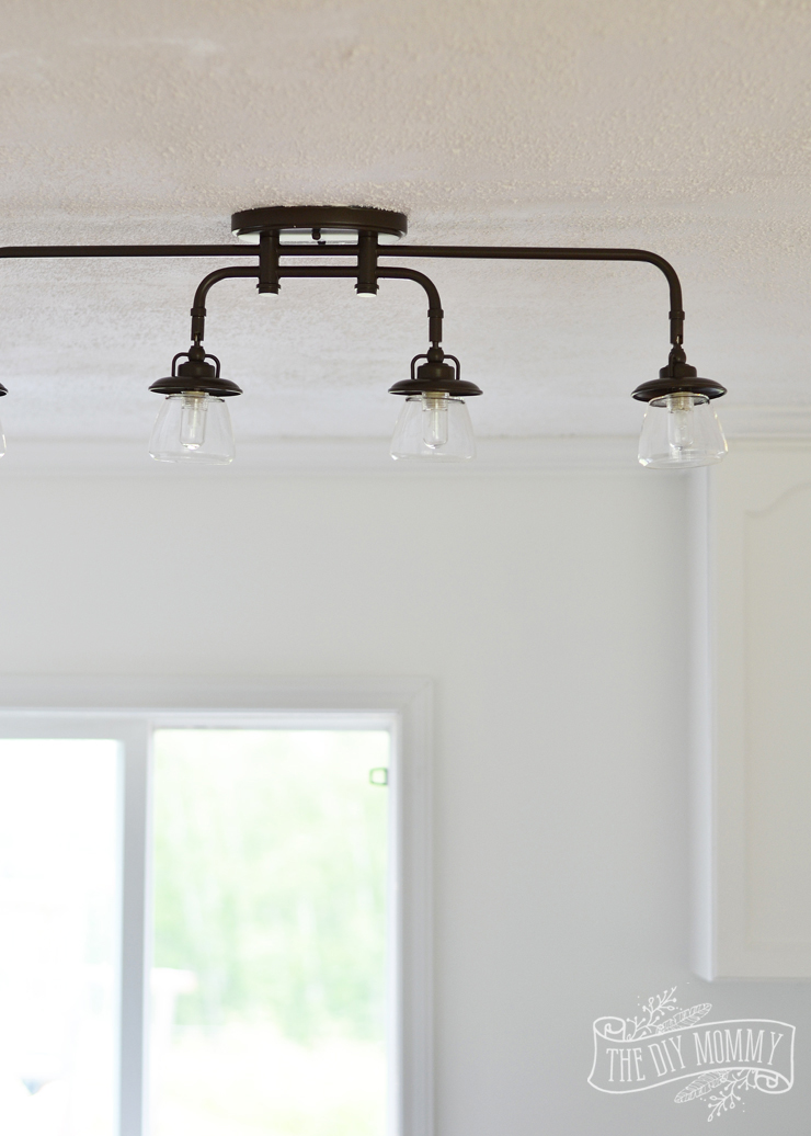 Vintage industrial track light fixture