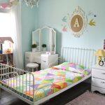 Modern vintage pastel rainbow girls bedroom