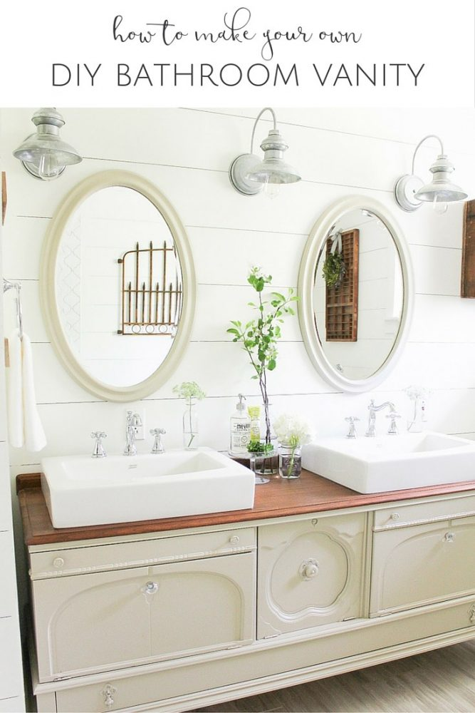 Diy Vintage Buffet Bathroom Vanity The Creative Corner 102 Diy Craft Home Decor Link
