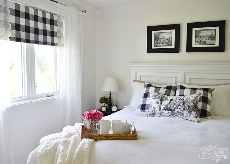 Our Guest Cottage Bedroom A Small Space On A Budget In Black