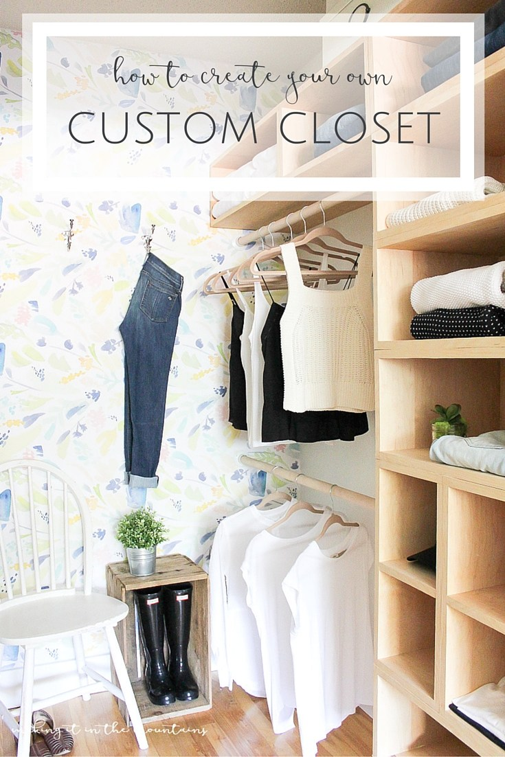Diy master bedroom closet the creative corner 107 diy for Diy master closet ideas