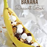 Grilled Banana Dessert Bar + The Creative Corner #104: DIY, Home Decor & Craft Link Party