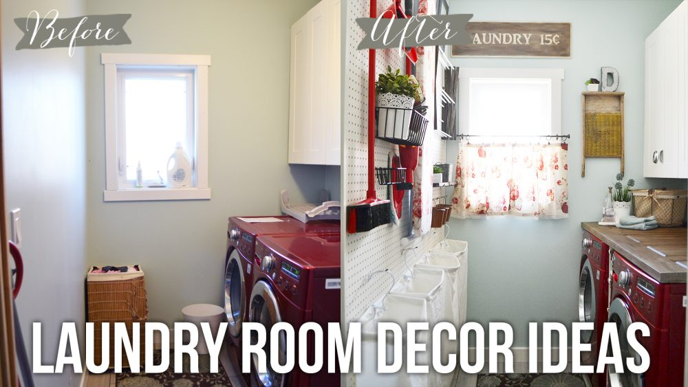 Laundry room decor ideas tip tuesday the diy mommy - Laundry rooms for small spaces decoration ...