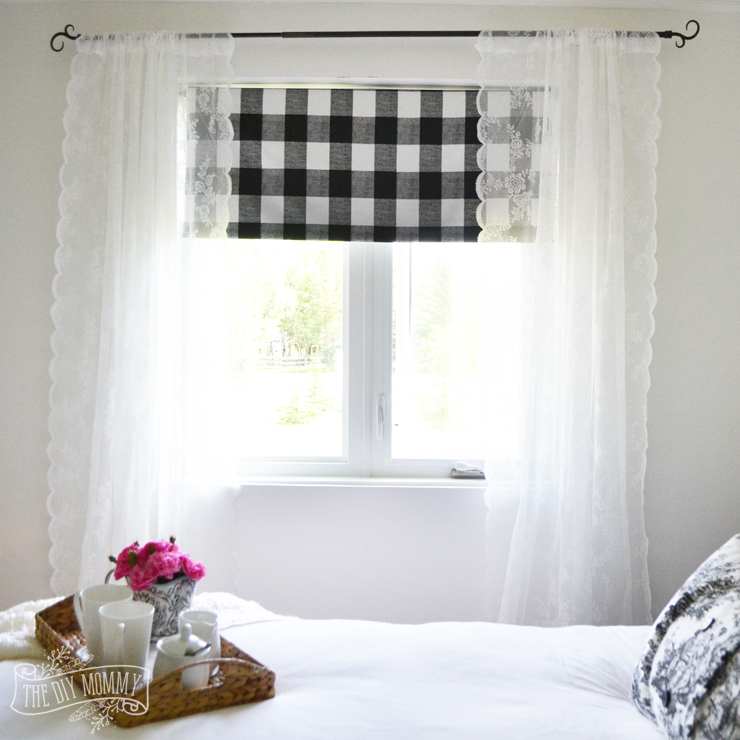 How to make a fabric covered black out shade - no sew!