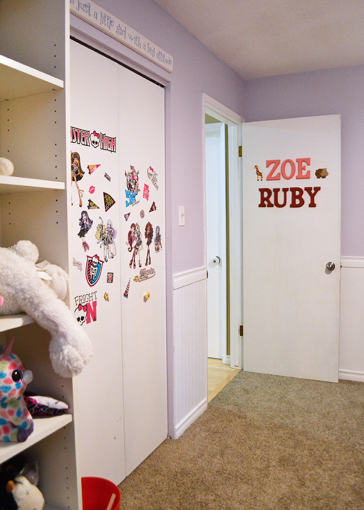 Ruby and Zoe's Room Before