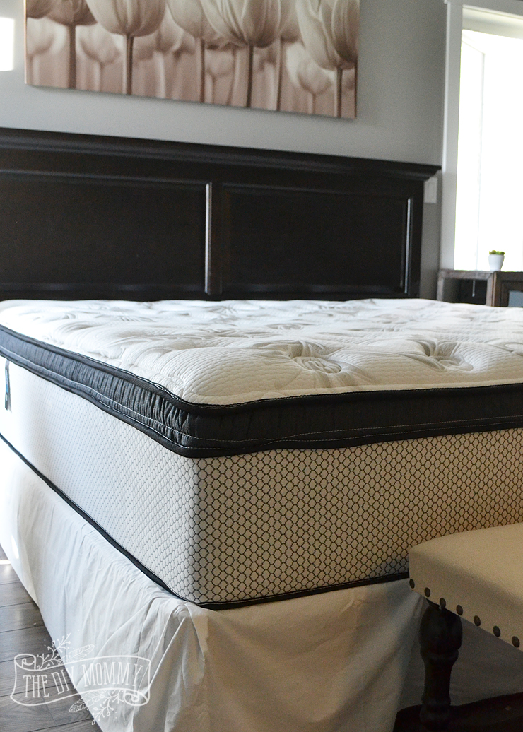 A lazy girl39s guide to making the bed our new mattress for Comfort inn bedding for sale