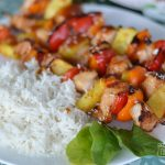 Make Tropical Chicken Skewers with Easy Coconut Minute Rice