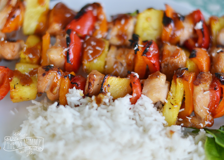 Tropical Grilled Chicken Skewers with Easy Coconut Rice Recipe