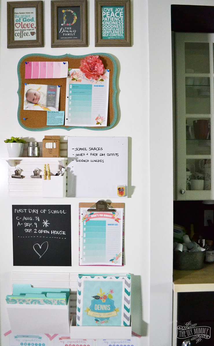 Kitchen Command Center Idea for Back to School