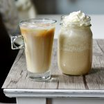 DIY homemade cold brew coffee with sweet vanilla cream