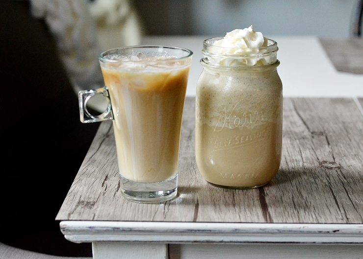 DIY homemade cold brew coffee with sweet vanilla cream