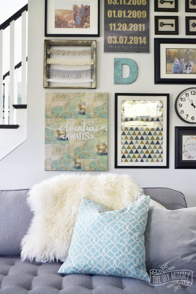 Gallery Wall and DIY Map Art