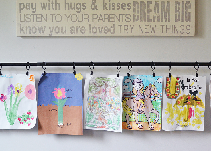 How to display kids artwork - easy idea!