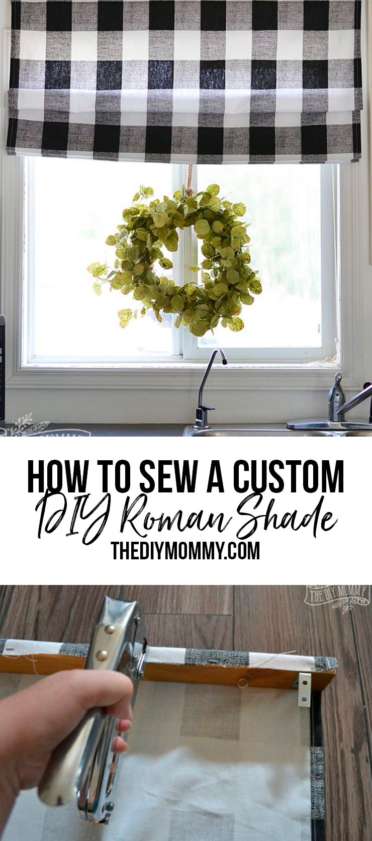 Sew a DIY Roman Shade - Printable instructions and material list included.