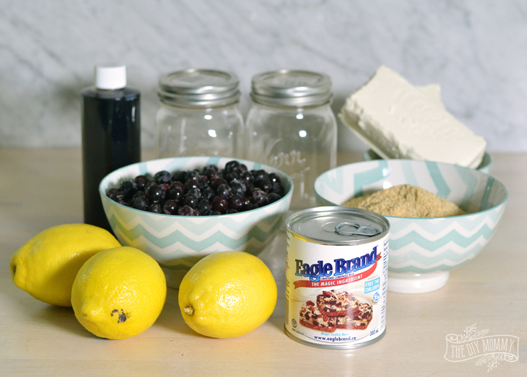 Easy Saskatoon Lemon Cheesecake Jars with Eagle Brand Sweetened Condensed Milk