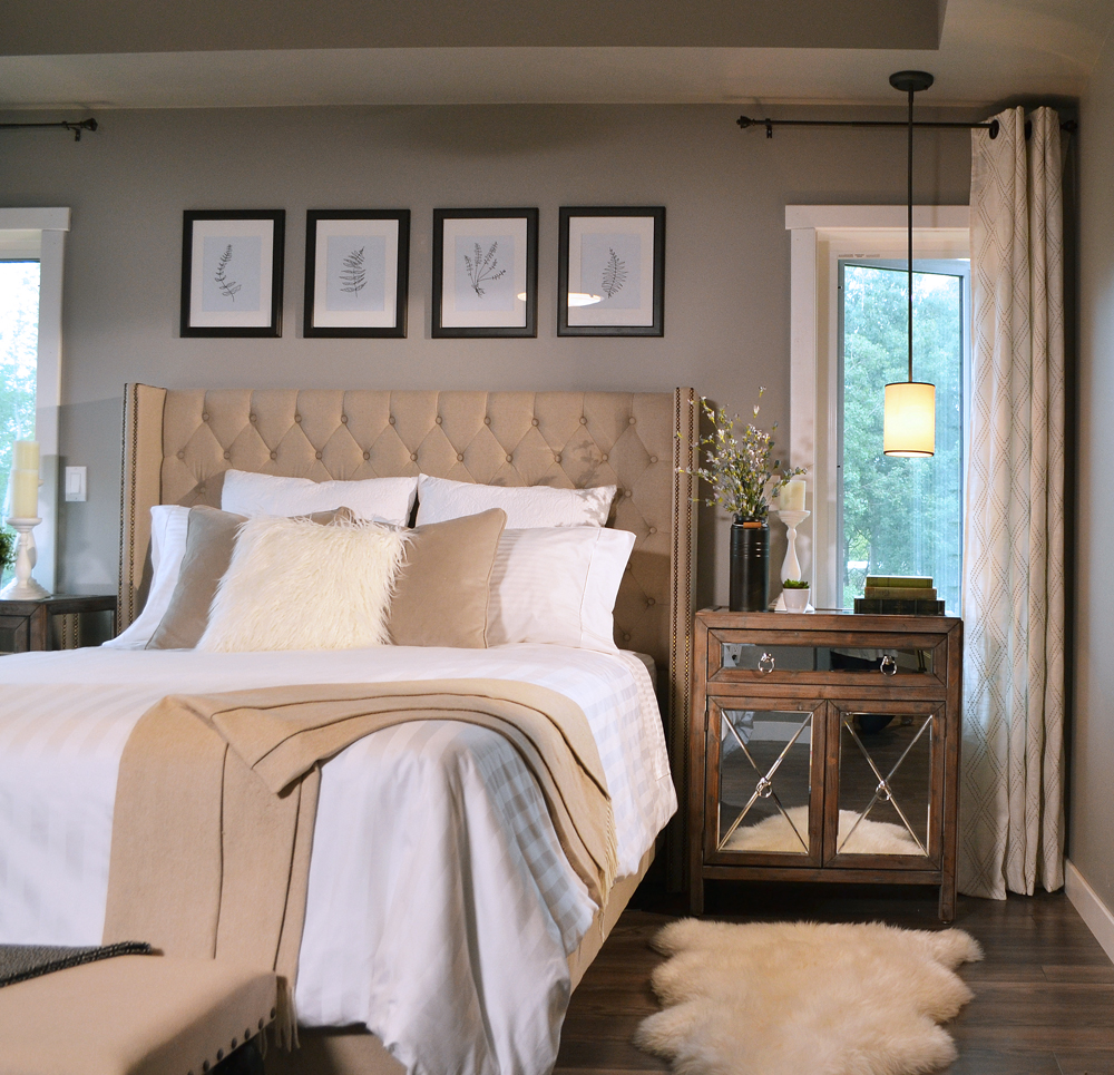 Traditional Glam Bedroom design with thrifty finds