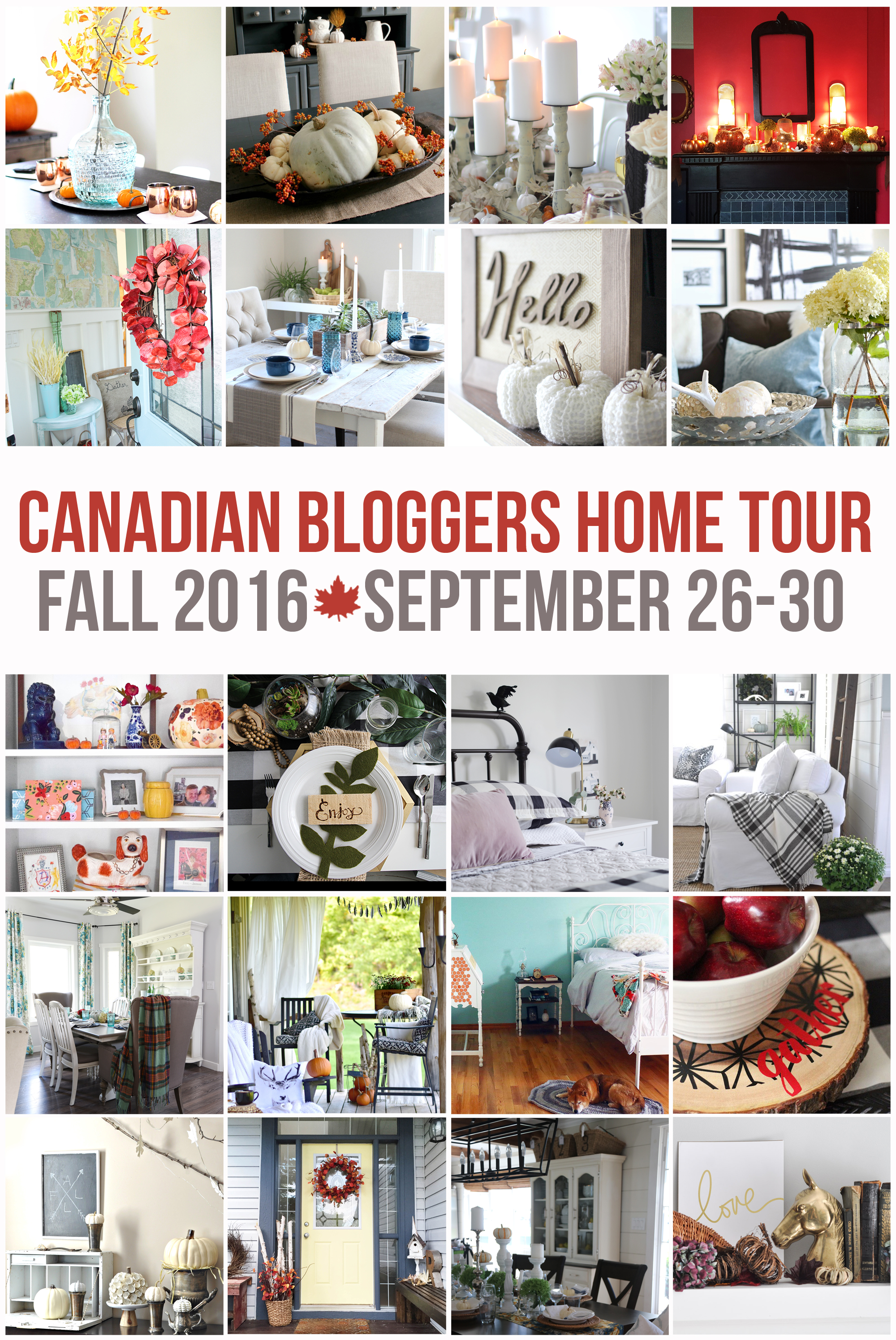 2016 Canadian Bloggers Fall Home Tour
