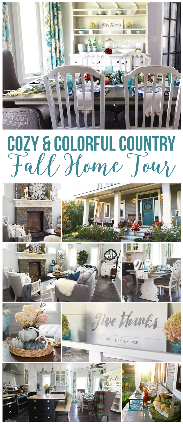 Colorful country boho Fall home tour