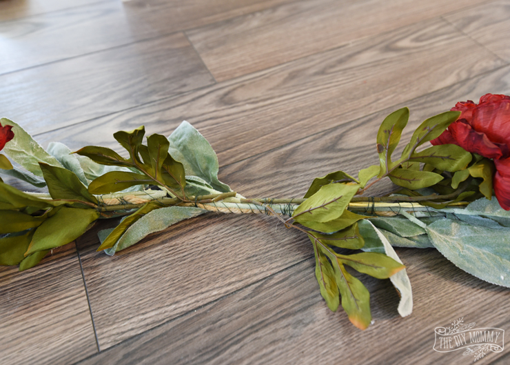 DIY Faux Floral and Leaf Garland for a Fall Tablescape