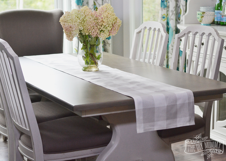 How to make a DIY no sew table runner