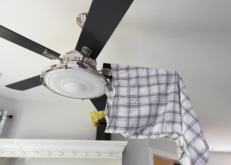 Fan blade cleaning hack