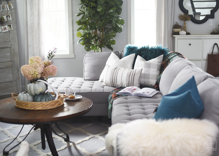 ... Modern Country Boho Farmhouse Living Room With Fall Touches