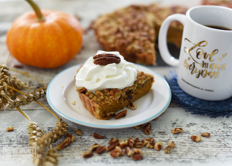 Pumpkin Tart with Pecan Nutty Streusel Recipe