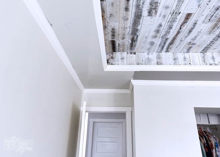 Master bedroom makeover progress with Benjamin Moore Classic Gray and SImply White