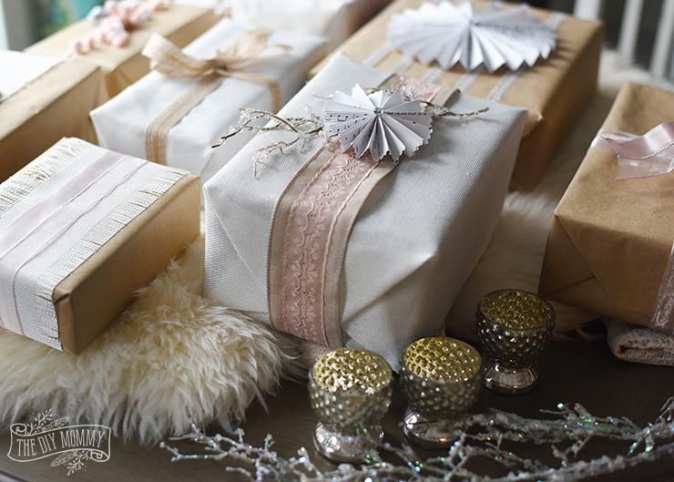 Shabby Chic Christmas Gift Wrapping Ideas #12MonthsofDIY