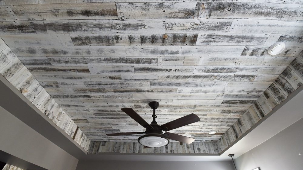 a diy rustic wood ceiling with white reclaimed stikwood - Reclaimed Wood Ceiling