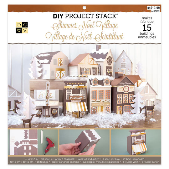 id highly recommend grabbing this adorable paper pack at your nearest michaels or online it was regular 30 cdn but i used a 50 off coupon - Christmas Village Sets Michaels