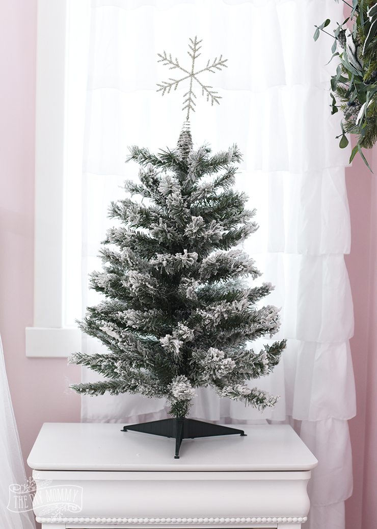 A White Pink Amp Metallic Flocked Fairy Tale Christmas Tree