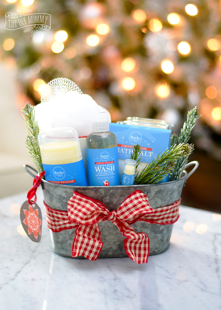 Diy Spa Gift Basket With Rocky Mountain Soap Co Vanilla Candy Cane