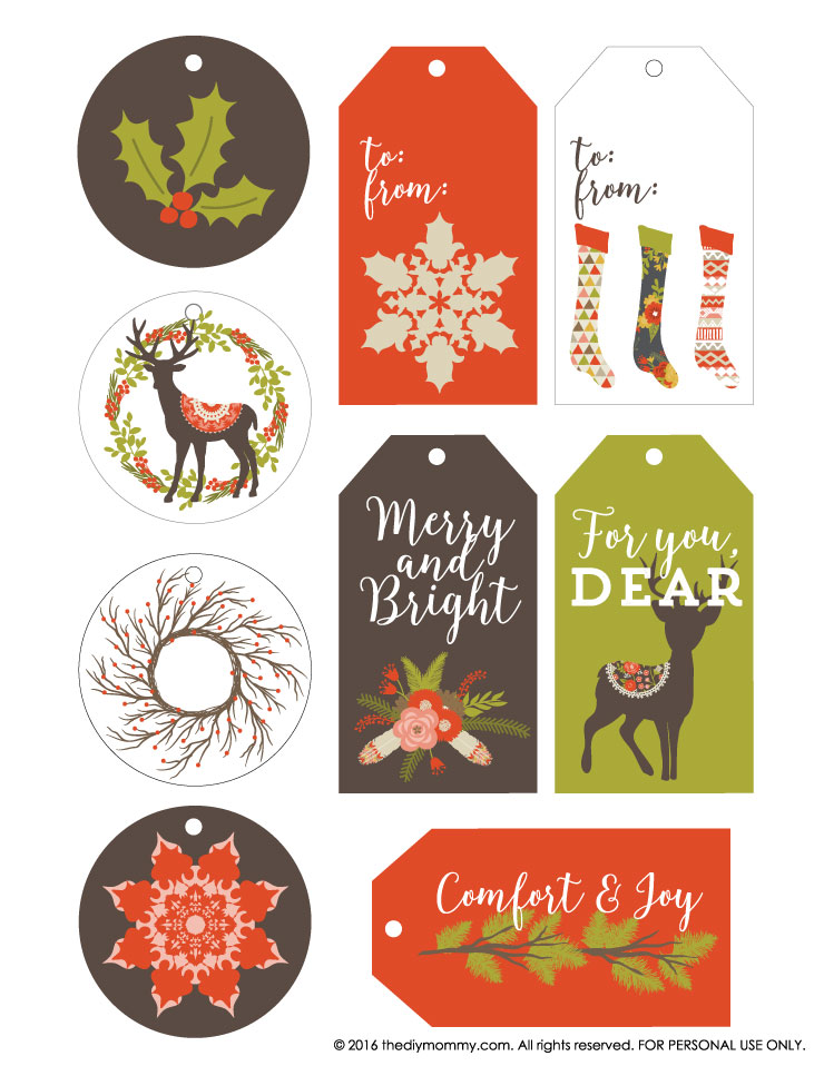 Free vintage rustic christmas gift tags the diy mommy free printable vintage rustic christmas gift tags negle Image collections