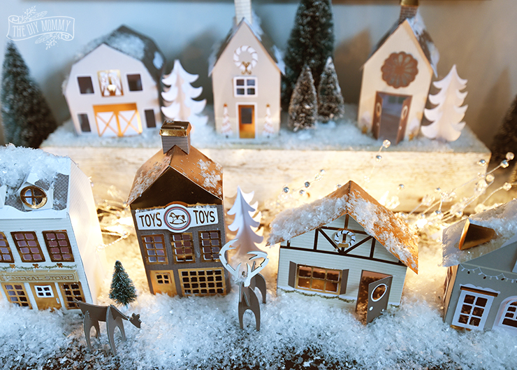 How To Store Christmas Village Houses.Our Diy 15 Paper Christmas Village The Diy Mommy