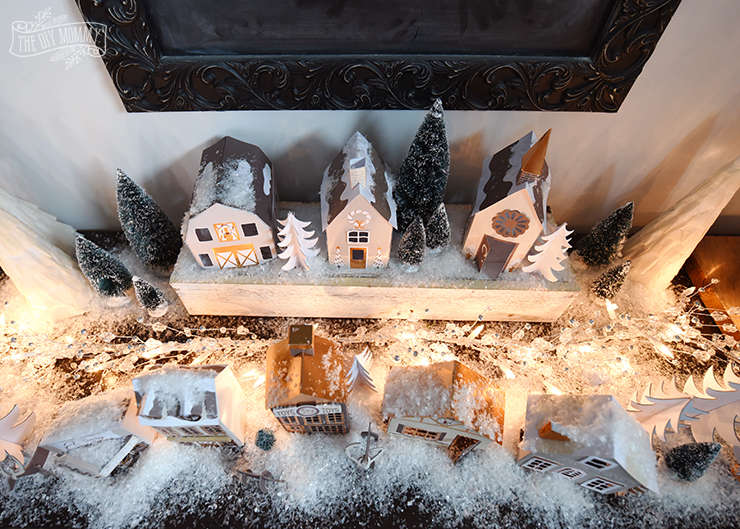 Adorable $15 DIY paper Christmas village