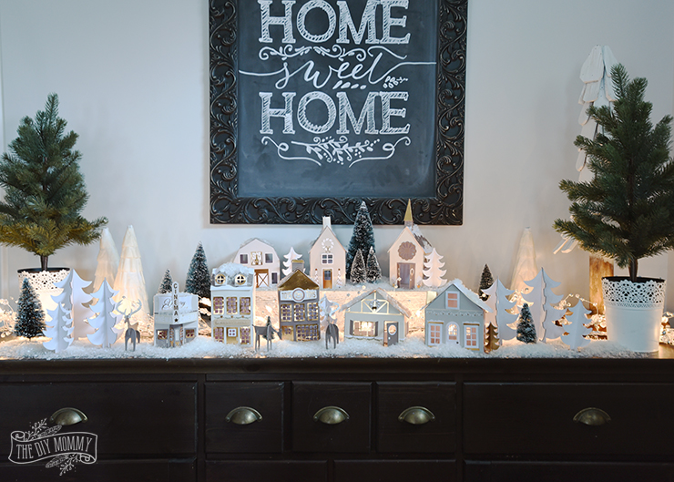 Our DIY $15 Paper Christmas Village | The DIY Mommy