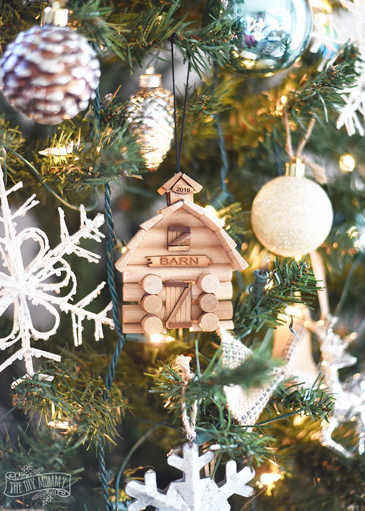 DIY Rustic Wood Ornaments