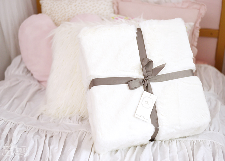 White Faux Fur Throw