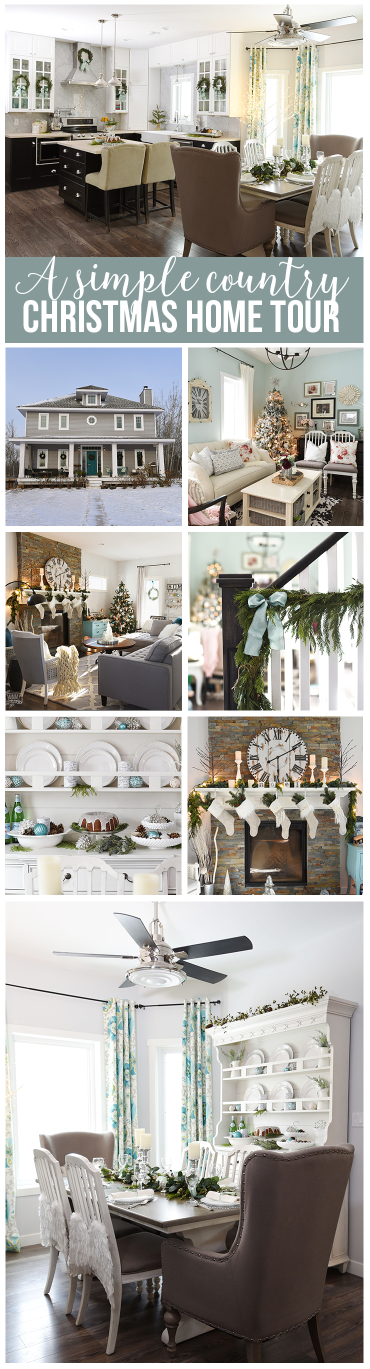 Simply country Christmas home tour