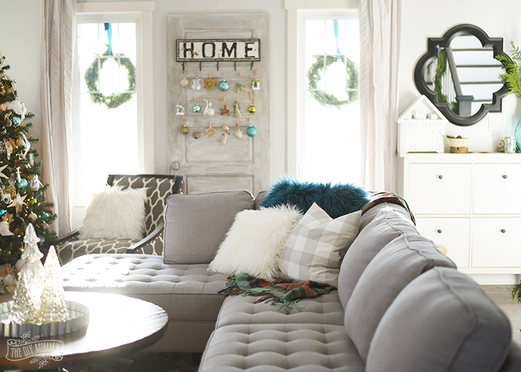 2016 Christmas Home Tour Updated Traditional Decor In Greens Blues