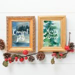 Free Christmas Watercolor Printable Art