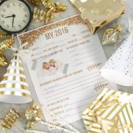 Free New Year's Eve Party Kid's Questionnaire and Artwork Printables